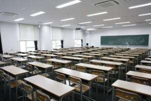 三田キャンパス講義室