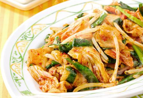 豚キムチ風野菜炒め