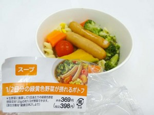 1:2日分の緑黄色野菜が取れるポトフ
