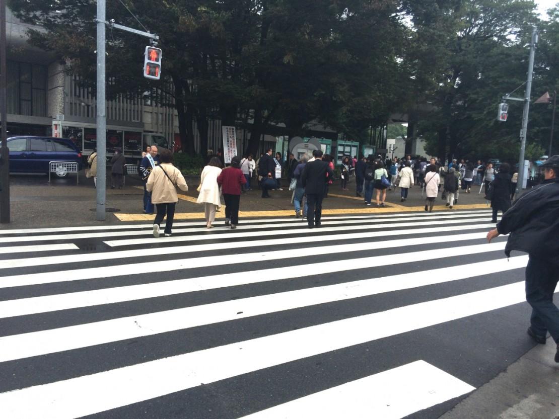 上野駅 公園口 横断歩道