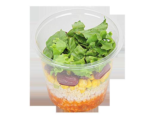 もち麦とキヌアのサラダ タコライスソース
