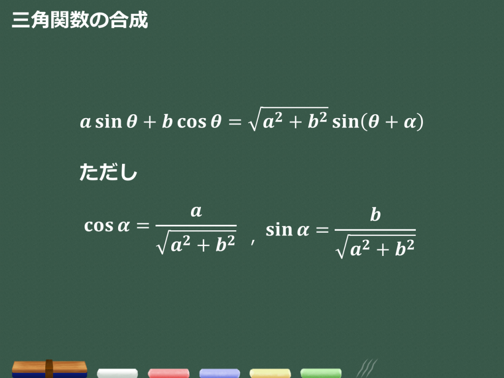【3分で分かる!】三角関数の合成公式の証明と使い方のコツ