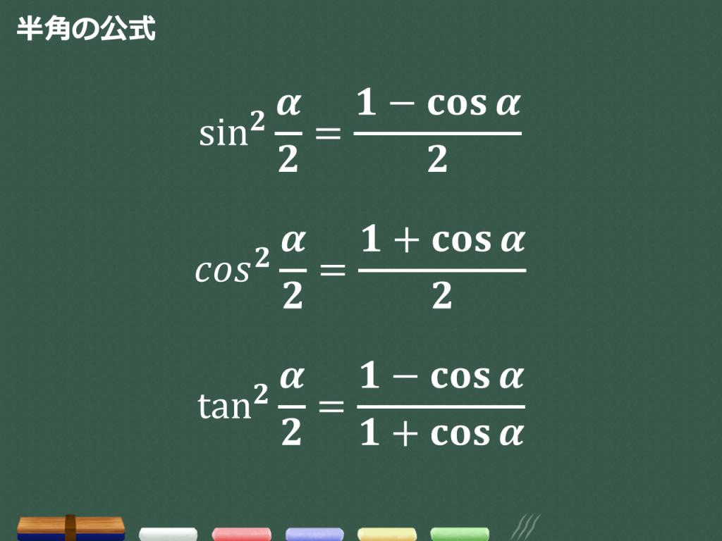 【3分で分かる!】半角公式の覚え方と証明、使い方のコツ