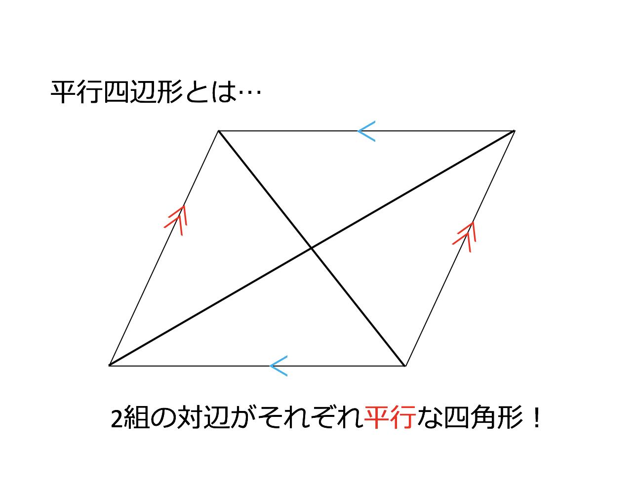の 形 定義 四辺 平行