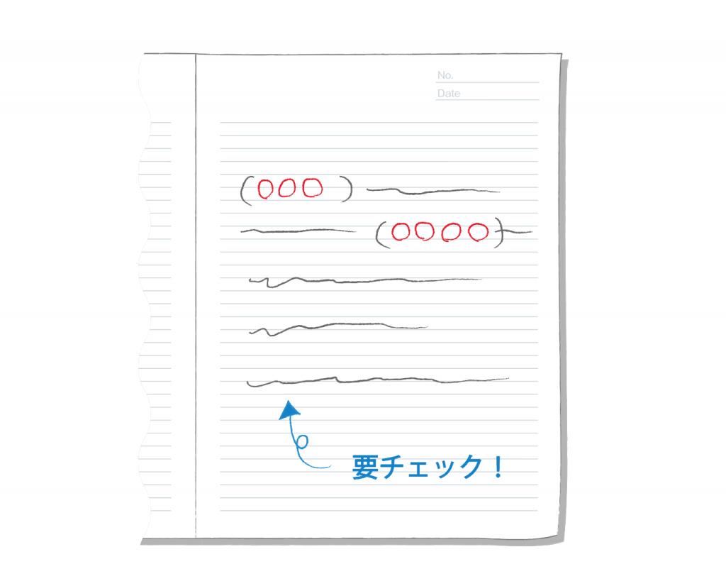 色ペンを使い分ける